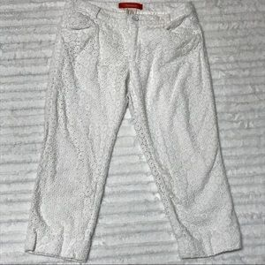 Cartonnier from Anthropologie Crop White Pants